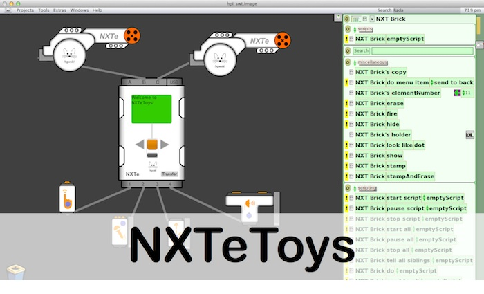 Thumb of NXTeToys project - Squeak Etoys environment